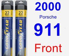 Front Wiper Blade Pack for 2000 Porsche 911 - Assurance