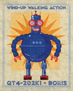 Boris Box Art Robot Prints by John Golden at AllPosters.com