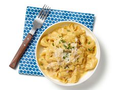 Tortellini With Pumpkin Alfredo Sauce Recipe : Food Network Kitchens : Food Network - FoodNetwork.com