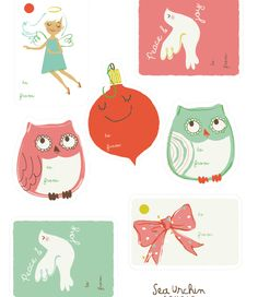Free printable holiday gift tags from Sea Urchin Studio. Adorable!