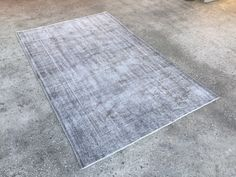 5'6 x 8'6 silver Gray Rug, Gray wool Rug, Wool Rug, Area Rugs, ivory rug,overdyed turkish rug,  Gray Vintage Rug, silver rug,Area Rug,  4630 by ColorReform on Etsy