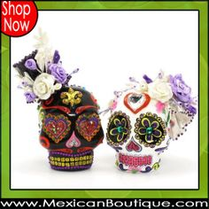Day of The Dead Cake Toppers  -♥- Mexican Decor | Mexican Folk Art | Skull | Cake Topper | DOD | Day of the Day | Day of the Dead Skull | Wedding Cake Topper | Wedding Topper | Skull Cake Topper | Mexican Boutique | Shop Now