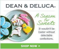 A season for TREATS. Get a Stunning Easter Basket at Dean & DeLuca! Shop Now! For more information visit the all About Cuisines Easter Guide to Easter cookbooks, recipes, gift ideas and much more at: http://www.allaboutcuisines.com/easter #Easter  #cookbooks #Easter recipes