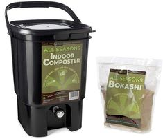 Kitchen Composter The indoor, Bokashi system ferments waste in less than half the time of conventional composting methods. #ad #affiliate