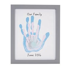 Mothers Day Crafts For Kids Discover Pearhead Family Handprints Frame Diy Keepsake Kit Gray Toddler Art, Toddler Crafts, Infant Crafts, Crafts To Do, Arts And Crafts, Kid Crafts, Family Hand Prints, Baby Hand Prints, Baby Footprint Art