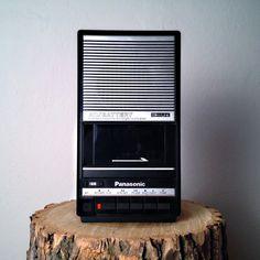 Vintage Cassette Player by Panasonic - Analog Audio Panasonic Slimline Cassette Player