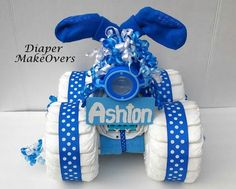 Unique Baby Boy Diaper Cake  4 wheeler  Baby by DiaperMakeOvers