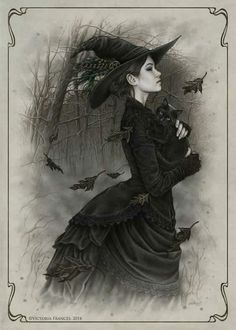 Witch Art by Victoria Frances