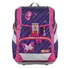 Step by Step 2in1 Plus Schulrucksack-Set Shiny Butterfly 6 Teilig Under Armour, Butterfly, Backpacks, Bags, Pink Lila, Products, School Routines, School Children, Side Bags