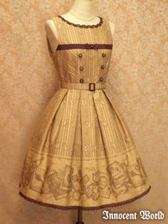 Yellow Victorian inspired dress.