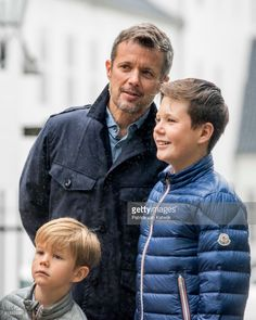 Crown Princes Frederik of Denmark, Prince Christian of Denmark and Prince Vincent of Denmark attend the Ringsted horse ceremony at Grasten Slot during their summer vacation on July 16, 2017 in Grasten, Denmark.