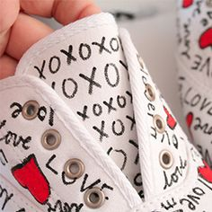 Valentine's Day is going to creep right up on you! Make these kicks you're sure to fall in love with!