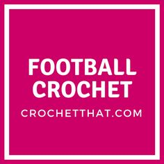 Crochet That! - Crochet we like, find, and make ourselves North Face Logo, The North Face, Football, Logos, Crochet, Soccer, Futbol, Logo, Ganchillo