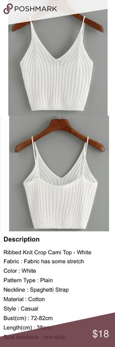 Rubbed knit cami top Brand new. Perfect for festivals!! Fabric does have some stretch, refer to sizing chart picture. Not FP, just posted for exposure. Thanks! Free People Tops Crop Tops