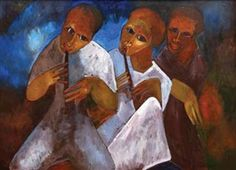 Artwork by Maria Kizito Kasule, Untitled, Made of Oil on canvas