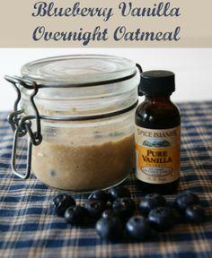 Blueberry Vanilla Overnight Oatmeal