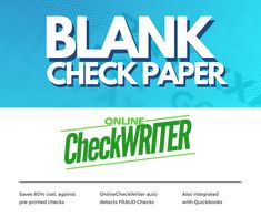 Cheap Checks - Switch to Blank check paper & Save of Pre-Printed - I Think it`s very good, it`s excellent service, I recomend it Quickbooks Payroll, Quickbooks Online, Payroll Checks, Cheap Checks, Blank Check, Writers Help, A State Of Trance, Writing Software, Custom Website Design