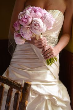 Wedding peonies bouquet