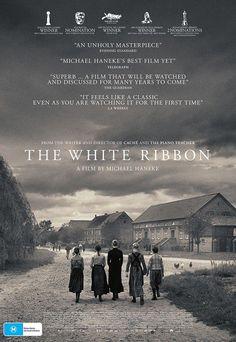 The White Ribbon (Das weiße Band, Eine deutsche Kindergeschichte) Films Cinema, Cinema Posters, Movie Posters, Love Movie, Movie Tv, Poster Design Software, Michael Haneke, Period Drama Movies, Netflix Canada