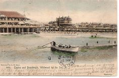 CASINO AND BOARDWALK, WILDWOOD BY THE SEA, 1905 POSTCARD