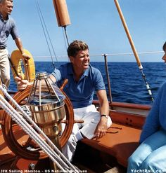 Sir John Fitzgerald Kennedy and his motley crew out for an afternoon sail
