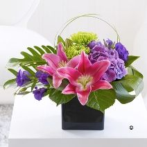 LILY ARRANGEMENT: Luxurious Oriental Lilies, and an array of luscious leaves and stems unite to create this striking arrangement. Other flowers will vary depending upon seasonal availability. - See more at: http://www.flowers.uk.net/shop/local/flowers/contemporary.shtml  Contemporary Flowers Nottingham, Designer Florist Nottingham, Modern Luxury Flowers, Modern Flower Arrangements, Luxury Bouquets Nottingham,...
