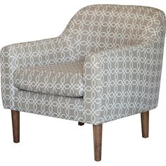 Winston Retro Chair - Grey and White Pattern - Christopher Knight Home Living Room Seating, Living Room Chairs, Living Room Furniture, Retro Armchair, Grey Chair, Occasional Chairs, Accent Furniture, Upholstered Chairs, White Patterns