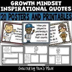Looking for a way to support growth mindset in your upper elementary or middle school classroom? These easy to print student friendly posters can be displayed on a bulletin board to foster positive thinking. Each poster has a quote that can be used to spark discussions about persevering and overcoming obstacles.The printables get students thinking about the power of YET. The questions asked on the printables can be used for small group activities or as a bell ringer. #growthmindset.#pamsplace Elementary Teaching, Student Teaching, Upper Elementary, Teaching Ideas, Growth Mindset Activities, Growth Mindset Posters, Grouping Students, Choose Quotes, Divergent Thinking