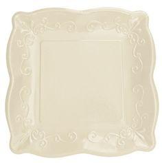 Lot 48 Premium Embossed Linen Dark Ivory 10\  Square Paper Plates Wedding | eBay  sc 1 st  Pinterest & paper plates - cheap chic and cute! | reception | Pinterest | Paper ...