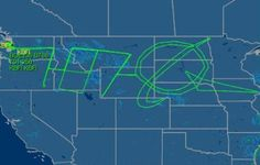Boeing 787-8 flight path during 18 hour flight test. WOW!!