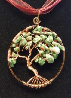 WW078 Tree of Life Wire Wrapped Jewelry, Wire Jewelry, Jewelery, Wire Earrings, Beaded Jewelry, Silver Jewelry, Jewelry Tree, Jewelry Crafts, Copper Wire Crafts