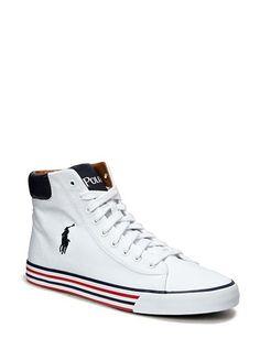 Hvide Polo Harvey Ralph Lauren sko - ModeJagten