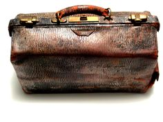 Vintage leather medical bag