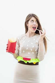 DIY Burger costume - I'm all about the diner vibe this year
