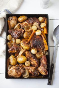 Roast Red Wine Chicken - one pan meal!