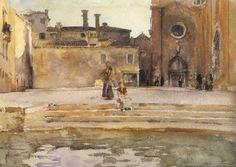Sargent - Venice, Campo dei Frari, 1880