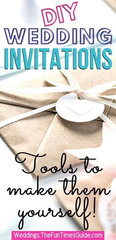 If you're on a budget, one way to save money on your wedding invitations is to make them yourself. Plus, it's FUN! Here are some tips & tools for easy DIY wedding invitations. (Even if you don't have a creative bone in your body!) #diywedding #weddingbudget #weddinginvitations #weddingdiy
