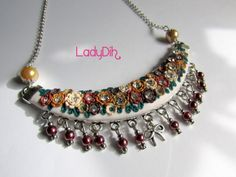 Fio curto feito em cerâmica plástica. Jewelry clay / fimo ladydih.blogspot.pt/ https://www.facebook.com/LadyDihh