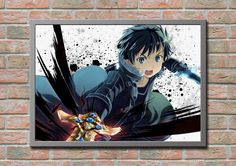 Sword Art Online Kirito Anime Manga Game Gift  by masterofposter