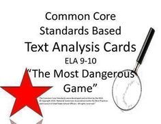 Do you find yourself struggling to cover all of the standards while you analyze literature? This set of text analysis cards will put the work in the hand of the student.  I have created giant task cards, based on the Common Core Standards, that prompt your student to analyze a specific part of the text.