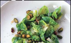 Sauteed Brussels Sprouts with Lemon and Pistachios / Lisa Hubbard