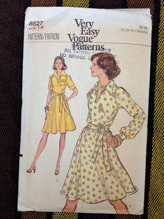 70's Vogue 8827 Very Easy Pattern // Misses Tie by ElkHugsVintage, $7.00