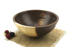 Wooden Walnut Bowl / 8 1/2 inch Wooden Dish by WoodExpressions, $58.00