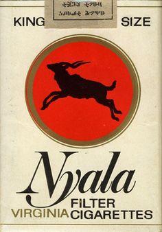 ኒያላ ትምባሆ ወይም ሲጋራ Nyala Sold in Ethiopia Cigarette Brands, Cigarette Box, Vintage Tins, Vintage Labels, History Of Ethiopia, Typography Love, Chaotic Neutral, Mood Wallpaper, Cigar Smoking