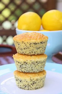 Lemon Poppy Seed Tea Cakes (from Burn Me Not)