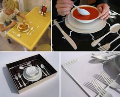 "Etiquette Set by Ed Vince – a pre-packaged dining kit that ""allows the user to enjoy an à la Russe dining experience in any context, regardless of class or wealth."" - Seriously lol?"