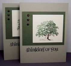 simple but beautiful card - Stampin Up Lovely as a Tree stamp set