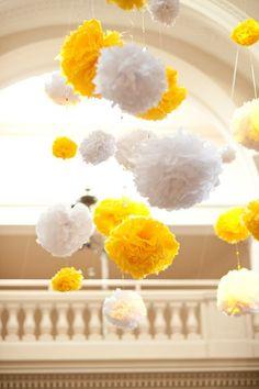 Darling! Loving these hanging white and yellow balls! @studiodbi