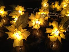 Fairy Lights,20  Yellow Tone Ylang-ylang  Flower String Lights Fairy Lights Wedding Party Floral Home Decoration,Indoor lights,Bedroom Light