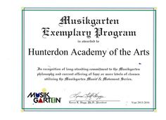 "We're so proud to have won Musikgarten's ""Exemplary Program Award"" for 2015-16 school year!! A Big Thank You to all the children and their supportive parents in this wonderful program, and a very special THANK YOU to our amazing Ann Engberg--""Mrs E""--for her outstanding work in the classroom!! For more information about our Musikgarten program, call us at (908) 782-4943 or visit http://www.hunterdonacademyofthearts.com/music-classes-kids… #Musikgarten"